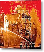 Adams Hotel Fire 1910 Phoenix Arizona 1910-2012 Metal Print