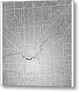 Adelaide Street Map - Adelaide Australia Road Map Art On Colored Metal Print