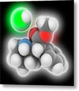 Adhd Drug Molecule Metal Print