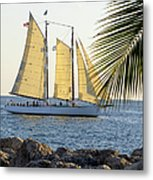 Sailing On The Adirondack In Key West Metal Print