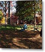 Adirondack Chairs 2 - Davidson College Metal Print