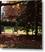 Adirondack Chairs-3 - Davidson College Metal Print