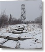 Adirondack Fire Tower 2 Metal Print