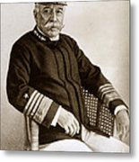 Admiral Of The Navy George Dewey Seen In 1899 On The Uss Olympia Metal Print