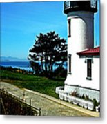 Admiralty Head Lighthouse View  Metal Print