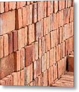 Adobe Bricks Drying In The Sun Metal Print