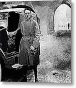 Adolf Hitler Shortly After His Release From Prison With A Mercedes 1924 - 2012 Metal Print