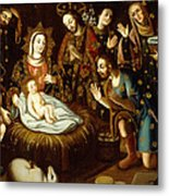 Adoration Of The Sheperds Metal Print