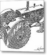 Advance Rumely Metal Print