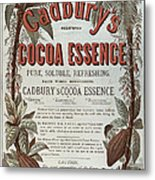 Advertisement For Cadburs Cocoa Essence From The Graphic Metal Print