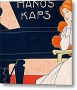 Advertisement For Kaps Pianos Metal Print