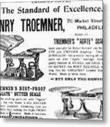 Advertisement Scales Metal Print