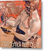 Advertisemet For Marmonier Fils Lyon Metal Print