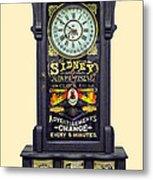 Advertising Clock Metal Print