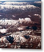 Aeial View Of The Snowy Mountains Metal Print