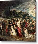 Aeneas And His Family Departing From Troy Metal Print