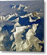 Aerial Ice Fields Metal Print