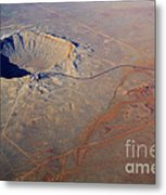 Aerial Of Meteor Crater Metal Print