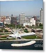 Aerial Of Milwaukee Skyline Metal Print