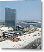 Aerial Of Revel On The Oceanfront Metal Print