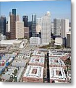 Aerial Of The Houston Skyline Metal Print