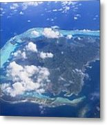Aerial Over Atoll Metal Print