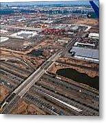 Aerial Over Newark Metal Print