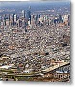 Aerial Philadelphia Metal Print by Olivier Le Queinec