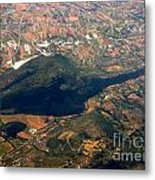 Aerial Photography - Hill Like A Big Mouse  Metal Print
