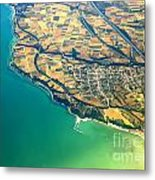 Aerial Photography - Italy Coast Metal Print