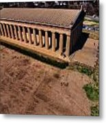 Aerial Photography Of The Parthenon Metal Print