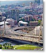 Aerial Shot Of Boston Metal Print