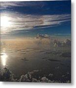 Aerial Sunrise Over Florida Keys Metal Print