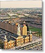 Aerial View Of A Baseball Stadium Metal Print