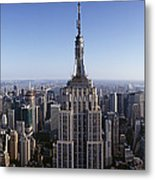 Aerial View Of A Cityscape, Empire Metal Print