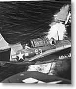 Aerial View Of A Curtiss Helldiver Metal Print