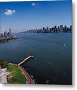Aerial View Of A Statue, Statue Metal Print