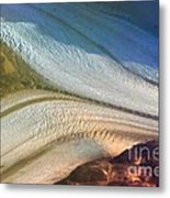 Aerial  View Of An Antarctica Glacier Flow Metal Print