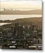 Aerial View Of Bellevue Skyline Metal Print