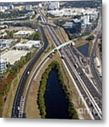 Aerial View Of City Of Tampa Metal Print