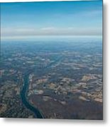 Aerial View Of Earth In Usa Metal Print
