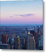 Aerial View Of Empire State And Midtown Metal Print
