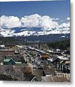Aerial View Of Historic Downtown Truckee California Metal Print