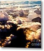 Aerial View Of Pacific Coast Of Bc Canada Metal Print