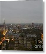 Aerial View Of Riga Metal Print