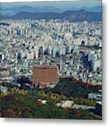 Aerial View Of Seoul South Korea Metal Print