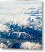 Aerial View Of Snowcapped Mountains In Bc Canada Metal Print
