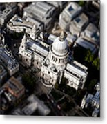Aerial View Of St Pauls Cathedral Metal Print