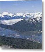 Aerial View Of Taku River, Taku Glacier Metal Print