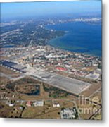 Aerial View Of Tampa And St. Petersburg Metal Print